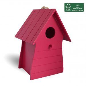 FSC 100% wood birdhouse Costa - AIC International