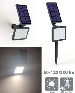 Projecteur solaire 200 lm 2 en1 Eli - AIC International