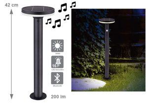 Lampe solaire Madison bluetooth 200lm - AIC International