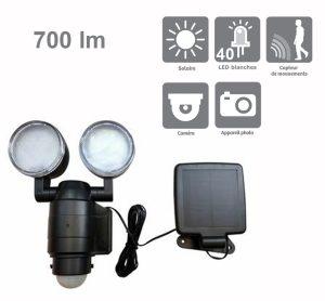 Projecteur solaire 700lm avec caméra – Actis - AIC International