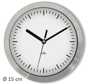 Horloge Alu Ø15 cm - AIC International