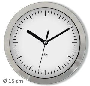 Inox clock Ø15 cm - AIC International