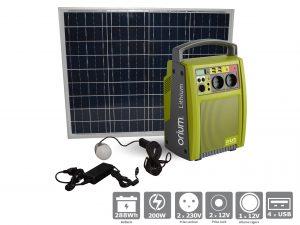 Pack Batterie Autonome à Recharge Solaire Lithium 288Wh - AIC International