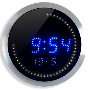 Horloge LED T° et date Ø30cm