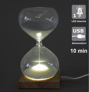 Decorative LED Sandglass 10 min Maggie - AIC International