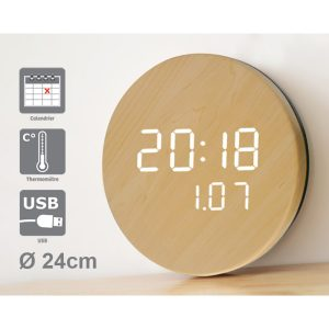 LED clock Natura - AIC International