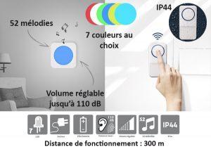 Carillon sans fil Rainbow - AIC International