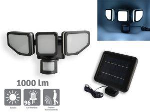 Projecteur solaire Triplex 1000lm - AIC International