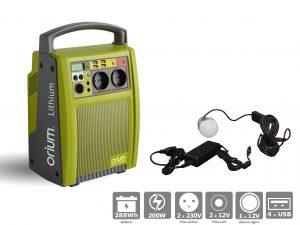 Batterie Autonome à Recharge Solaire Lithium 288Wh - AIC International