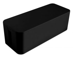 Hide cable XL box in black - AIC International
