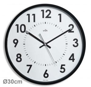 Silent black clock Ø30cm Abylis - AIC International