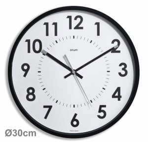 Silent black clock Ø30cm Abylis - AIC International