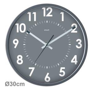 Silent grey clock Ø30cm Abylis - AIC International