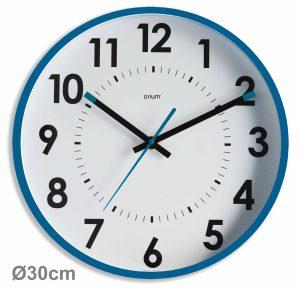 Horloge silencieuse Abylis Ø30cm Bleu turquoise - AIC International