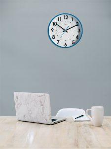 Horloge silencieuse Abylis Ø30cm Bleu turquoise