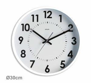 Horloge silencieuse Abylis Ø30cm – Blanc - AIC International