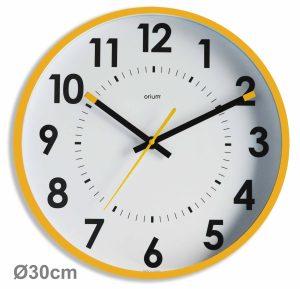 Horloge silencieuse Abylis Ø30cm – Ocre - AIC International