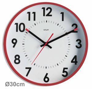 Horloge silencieuse Abylis Ø30cm – Lie de vin - AIC International