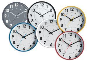 Silent black clock Ø30cm