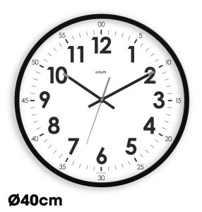Horloge quartz Silencieuse Ø40cm –  Noir - AIC International