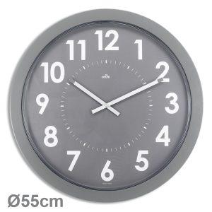 Horloge géante quartz silencieux Ø54 cm – Gris - AIC International