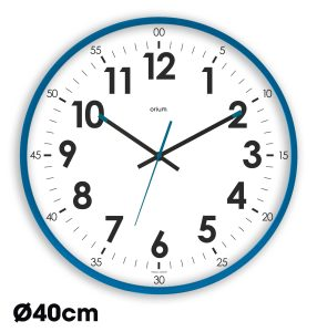 Silver quartz clock  Ø40 cm - AIC International