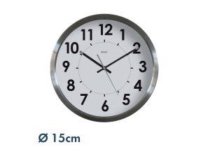 Horloge inox Ø 15 cm - AIC International