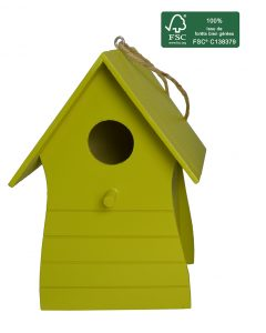 FSC 100% wood birdhouse Costa - AIC International