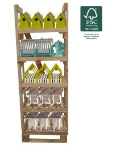 Display – FSC® certified 100% birdhouses and bird feeders 40pc - AIC International