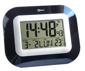 Digital RC clock lacquered MSF - AIC International