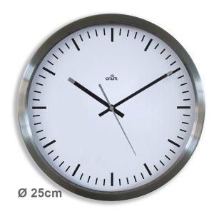 Stainless steel clock Ø25 cm - AIC International