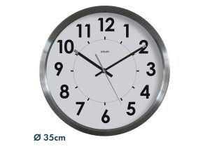 Stainless steel clock Ø35 cm - AIC International