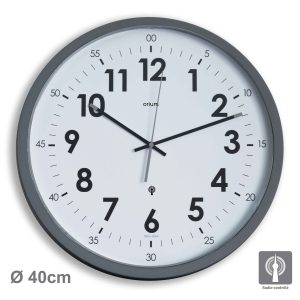 Horloge Radio-contrôlée Oria Ø40cm –  Gris - AIC International