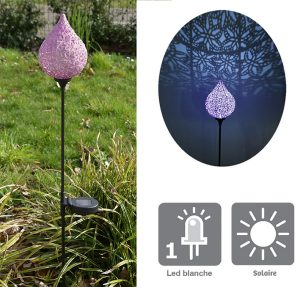 "Solar decoration ""Idriss"" purple 87cm - AIC International"