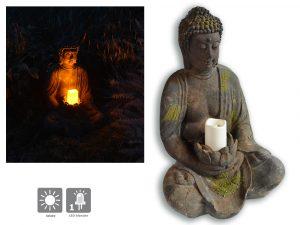 Bouddha lumineux solaire Antiqua 40cm - AIC International
