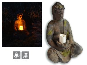 Solar Buddha Light 40 cm - AIC International