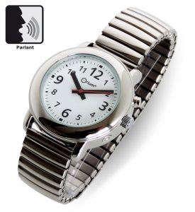 Montre parlante femme métal - AIC International