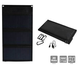 Sunpower Foldable solar panel 20W - AIC International