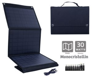 Monocristalin Foldable solar panel 30W - AIC International