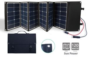 Folding Sunpower Solar panel 120W - AIC International