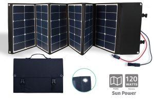 Folding Sunpower Solar panel 120W - AIC International