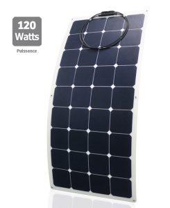 Semi-flexible sunpower Solar panel 120W - AIC International