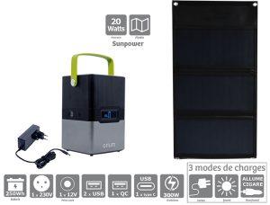 Pack station d'énergie portative 250 et panneau solaire 20W - AIC International