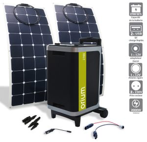Pack Power station IZYWATT  2570 + flexible solar panel 120W - AIC International