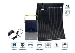 Pack station d'énergie IZYWATT 250 et panneau solaire 50W - AIC International