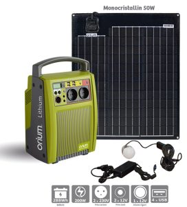 Pack power station IZYWATT 288 + solar panel 50W - AIC International