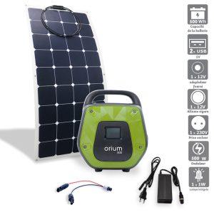 Pack Station d'énergie IZYWATT 500 et panneau solaire souple 120W - AIC International