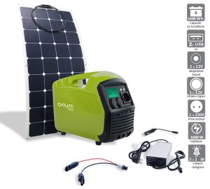 Pack Power station IZYWATT 1500 + flexible solar panel 120W - AIC International