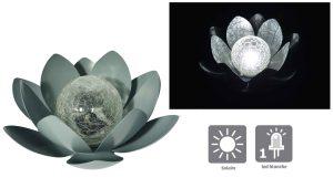 Déco lumineuse Solaire Lotus – Cèdre - AIC International