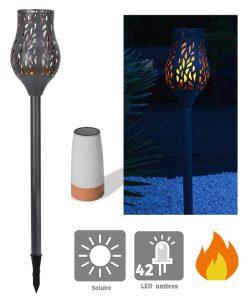 Flambeau solaire Tulipe 74 cm - AIC International